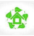 Green House Emblem vector image