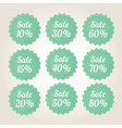 Green sale badge stickers set vector image vector image