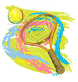 hand drawn of tennis racket vector image vector image
