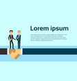 handshake two business men shaking hands agreement vector image