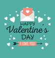 happy valentines day stylish greeting card vector image