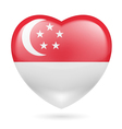 Heart icon of Singapore vector image