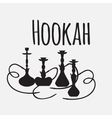 Hookah labels and smoke logo Set of oriental vector image vector image