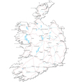 Ireland Black White Map vector image vector image