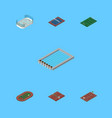 isometric competition set of ice games run vector image vector image