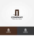 letter a shape architecture logo vector image