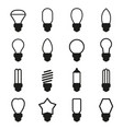light bulb icon set vector image vector image