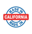 made in california emblem flat vector image vector image