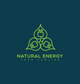 natural energy logo vector image