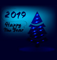 new year 2019 background in blue colour vector image vector image