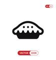 pie icon vector image
