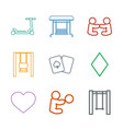 playing icons vector image vector image