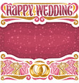 poster for wedding vector image vector image