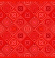 red geometric diagonal curved shape mosaic vector image vector image