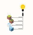 renewable energy concept flat design vector image vector image