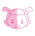 silhouette baby girl head with pacifier and vector image vector image