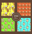Sketch set with ice cream patterns vector image vector image