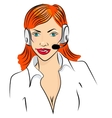 smiling cute woman working vector image