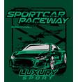 sportcar raceway vector image vector image
