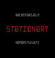 stationary font alphabet vector image vector image