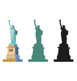 statue liberty in color and black vector image