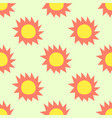 sun pattern seamless summer on yellow background vector image