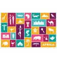 traditional symbols of africa flat icons vector image vector image