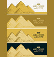 travel banners with famous egyptian pyramids vector image vector image