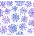 Watercolor snowflakes seamless pattern vector image