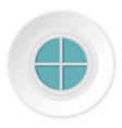 white round window icon circle vector image vector image