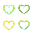 wreath as a heart vector image vector image