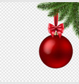 xmas ball isolated transparent background vector image vector image