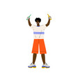 young african american man in casual clothes vector image vector image