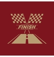 The race flag icon Finish symbol Flat vector image