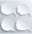 Abstract White Speech Bubbles Set vector image vector image