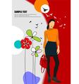 al 0708 woman poster 01 vector image vector image