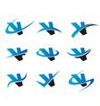 Alphabet V Logo Icons vector image vector image