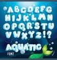 aquatic font vector image vector image