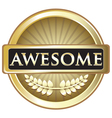 Awesome Gold Label vector image vector image