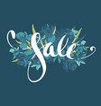 beautiful spring lettering sale hand drawn floral vector image vector image