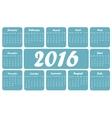 Blue 2016 calendar vector image
