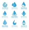 Blue water drop logos icons set vector image vector image