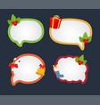 cartoon bubble speech for christmas dialog vector image vector image