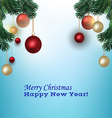Christmas picture with fir branches vector image vector image