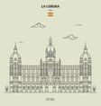 city hall in la coruna spain vector image vector image