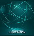 color circle lines vector image vector image