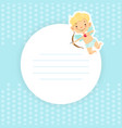 cupid bagirl with space for text adorable vector image vector image