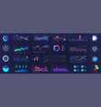 detailed dashboard infographics template vector image vector image