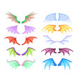 dragon wings different myth and fable creatures vector image
