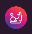 exercise bike icon in line style vector image